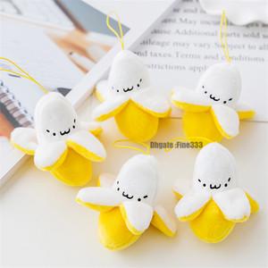 Super Chains bonito 8cm Little Banana Amarelo Plush Stuffed Toy pequena chave de Cordas Plush Doll Toy Keychain Fruit por Mulheres menina