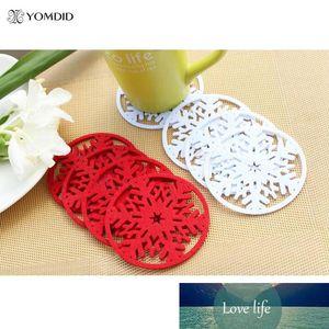 Coasters per la decorazione di Natale per la casa del fiocco di neve di isolamento Coasters Tabella Dcorative Coasters