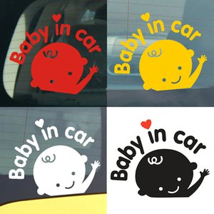 Car styling 3D Cartoon Car Stickers Baby In Car Warming Auto Sticker Baby on Board High Quality Dewtreetali Reflective Waterproof Paster