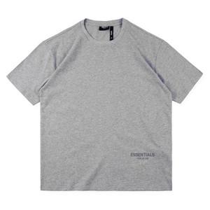 Японский Streetwear T Shirt Футболки Summber Блэка 20SS Хаки Серый