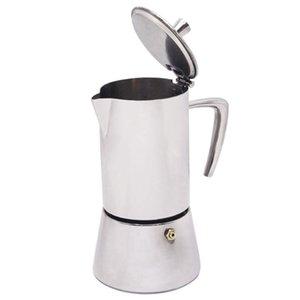 Herramienta percolador Cafetera percolador 4 tazas de acero inoxidable Cafetera Moka Cafetera herramienta quemadores Moka Tetera Filtrar
