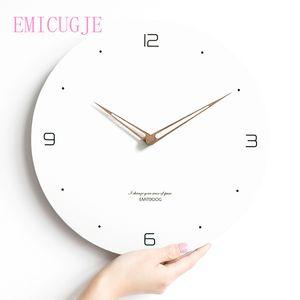 Moderne Minimalist Nordic Clock Wohnen Atmosphäre Mute Quarz Wanduhren Room Home Dekoration Zubehör