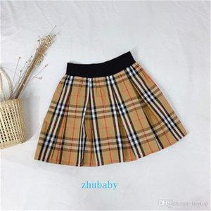 TideBrand Classic Plaid Girl Short Skirt Scottish Style Casual Skirt Spring Summer Autumn Fashion Baby Boutique Children's Wear