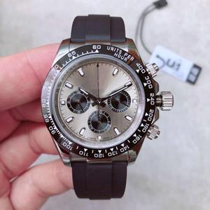 U1 2020 Hot Sale Mens Watch 40 milímetros Sapphire Black Rubber Vidro de aço inoxidável 316L Banda 2813 Máquina Automática Mens Relógios