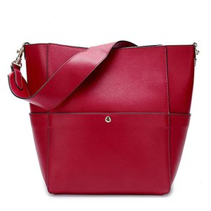 Bolsa de lujo inspirado diseñador Sangle Cubo Bolsa de hombro del cuero genuino del monedero del bolso de mano para las mujeres
