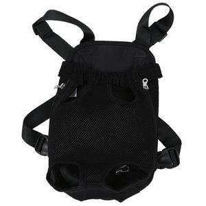 Black Dog Pet Cat Carrier Backpack Bag Net Adjustable M