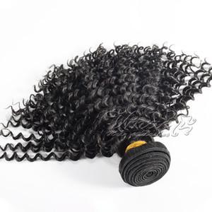 Romances calientes brasileños rizado rizado del pelo 3pcs teje extensiones del pelo humano Lote brasileña Afro rizado pelo de la Virgen rizada Mejor baratos