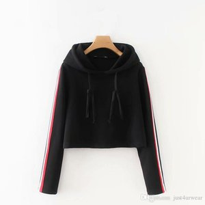 Women Autumn Winter Fashion Leisure Hoodies Sweatshirt Striped Casual Loose Sweatshirt Pullover Sleeve Long Sleeve Female Sweatshirt