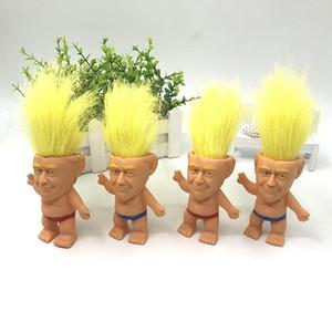 Presidente Donald Trump Troll Doll US Election modello in oro dei capelli Trump Doll Decoration a mano Home Auto Decoration regalo dei capretti HHA416