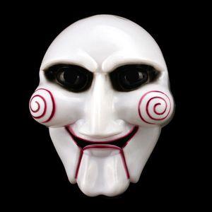Partido New Halloween Cosplay Billy Jigsaw Saw Puppet Máscara populares Masquerade Costume Props Aumentar atmosfera festiva