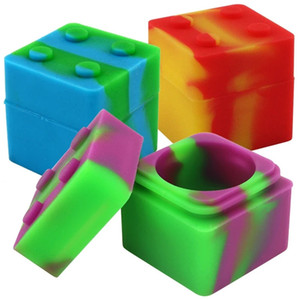 9 ml Multi Purpose Storage Box Silikon Dab Container Bunte Zigarettenetui Rauchen Zubehör Organizer Beliebte Kostenloser Versand 1 7BS D2