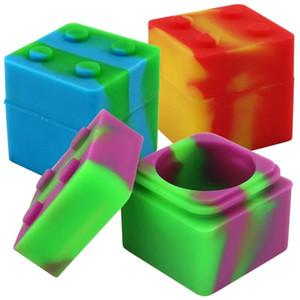 9ml Multi Purpose armazenamento caixa Silicone Dab recipientes coloridos cigarreira Acessórios fumar Organizer Popular frete grátis 1 7BS D2