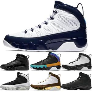 9 s Erkekler Basketbol Ayakkabıları 9 UNC Rüya Bunu Bred LA Oreo Lacivert Tur Sarı Atletik Spor Eğitmenler Sneakers B ...