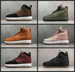 ayakkabıları 36-47 Koşu Su geçirmez spor ayakkabıları Kadınlar Erkek 1 Tasarımcı C2019 Yeni LF1 Moda Lunar Duckboot Erkek Hight En Çizme Deri haussures