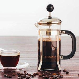 350ML de los hogares French Press acero inoxidable del pote del café del té portable del filtro Mano Flushing hervidoras Cafetera