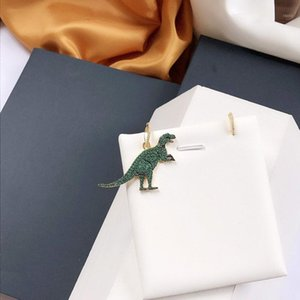 Dinosaur Earrings Luxury Jewelry Flower Earring For Women wedding engagement jewelry fashion Christmas Party Gift 84211