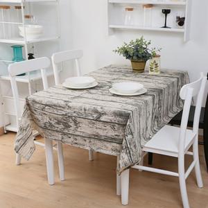 Casa À Prova D 'Água de Linho Retangular Toalha De Mesa Xadrez Impressão Multifuncional Table Cover Casa Cozinha Decoração Toalha De Mesa DH1400 T03