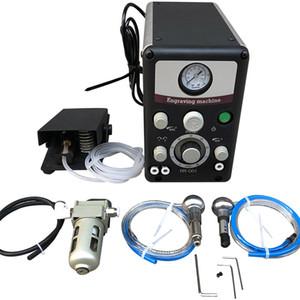 Sistema de joyería máquina de grabado de impacto neumática de grabado con 2 piezas de mano equipo de la joyería