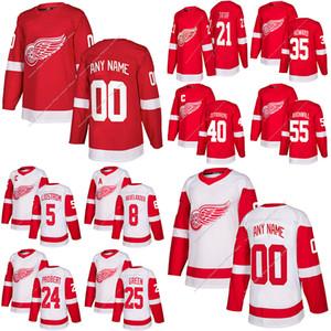 19 Steve Yzerman Red Wings de Détroit 71 Dylan Larkin 24 Bob Probert 13 Pavel Datsyuk sur mesure un nombre tout maillot de hockey nom