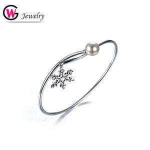 2020 femminile dei monili delle donne 925 d'argento solido del braccialetto di fascino Smooth Snakefake Argento Fashion GW Wristband