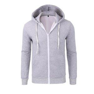 SexeMara новый мужская мода толстовки бренд досуг высокое качество мужчин толстовка толстовка свободного покроя молнии с капюшоном куртки мужской NWY0145