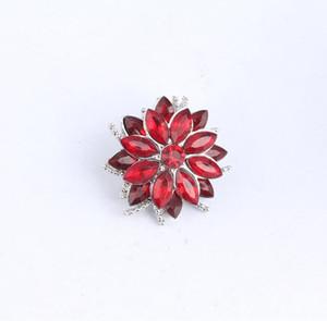 Partnerbeads NOOSA Fleur rond bouton pression Bijoux strass cristal interchangeable 18mm Bouton pression Vintage
