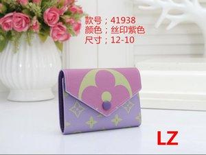 Aber Beliebte Anpassung New Rosalie Geldbörse Frauen Top-Qualität aus echtem Leder Rose Ballerine Kartenhalter Brieftasche L110 #