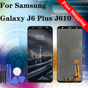 Original For Samsung Galaxy J6 Plus J6+ 2018 J610G J610G D J610FN LCD Display Digitizer with Touch Assembly Screen Replacement