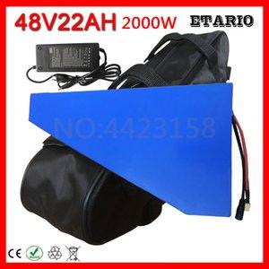 PVC 케이스 (50A) BMS 54.6V 2A 5A 충전기 무료 관세 48V 2000W 전기 자전거 배터리 22AH 삼각형 리튬