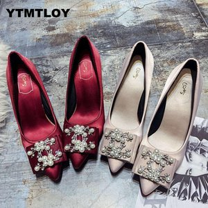 Heels Shoes Women Pumps Solid Elegant High Heels Fashion Wedding Shoes Famale Women Heel Shoes High Sexy High Heels Bridal T6 Y200702