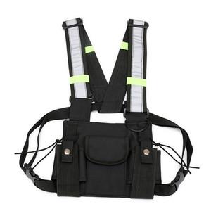 Frauen Oxford Chest Rig-Tasche für Männer Platz Kleine Hip-Hop Vest Harness Street-Taschen Female Male Chestbag Hüfttasche Weste