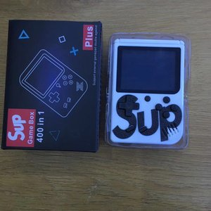 New White SUP giochi per console Mini Handheld Game Box portatile il video classico giocatore display 3.0 pollici a colori 400 giochi AV-out