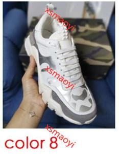 Moda Patchwork Rockrunner camuflaje zapatillas hococalGenuine cuero escaladores zapatos Vintage plataforma hombres mujeres zapatillas 8 colores corriendo