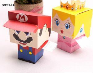 мультфильм супер мария принцесса жених и невеста свадебные сувениры коробка конфет марио свадебные подарки коробка конфет