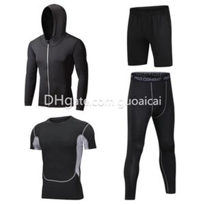 Wholesale Fashion Quick-dry Ventilate Men's Clothing 4PCS Male Running Jerseys High Quality Printed T-shirts Free Shipping