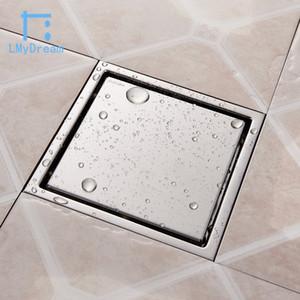 حرية الملاحة بلاط إدراج مربع الطابق استنزاف الحمام قضبان دش استنزاف 304 المقاوم للصدأ تدفق كبير تجفيف