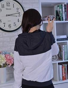 Manera- Fall Windrunner delgada mujeres de los hombres de ropa deportiva tela impermeable de alta calidad Hombres chaqueta deportiva con capucha cremallera de la manera más el tamaño 3XL