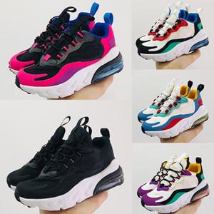 Nike air max 270 React Kid shoes sapatas dos miúdos basquetebol dos homens sapatos 11s Blackout Win Como 96 UNC Win Como Heiress Preto Stingray Crianças Sapatilha