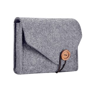 Home Storage Organization 1 Pcs Key Coin Package Mini Felt Pouch Earphone Sd Card Power Bank Data Cable Travel Organizer