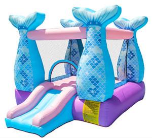 Çocuklar Partisi Kurutma Tüneli de Ev Şişme Denizkızı Bouncy Castle Play House
