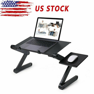 New Arrival Folding Table Tray PC Laptop TV Dinner Sofa Bed Desk Adjustable Folding Portable Black