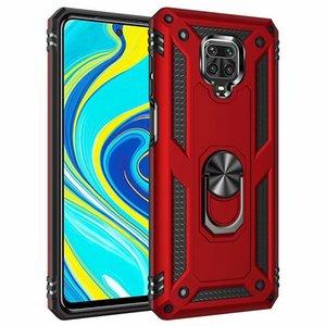 Anillo de metal a prueba de golpes de caja del teléfono Para redmi Nota 9 9s 9Pro Max 8T 8 8PRO 7 7a 8a dura armadura Caver Para PocoPhone Poco F2 Pro X2