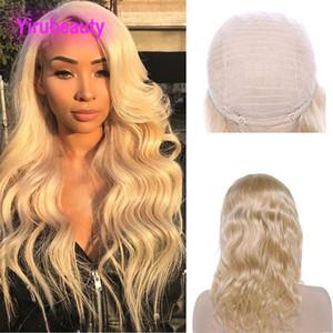 Peruana cabelo humano lace dianteira peruca cor loira 613 # Virgem cabelo corporal onda de renda dianteira perucas 8-32inch produtos baratos de cabelo