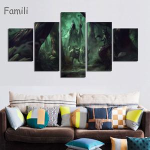 5Pcs/set The Twilight Saga: Breaking Dawn - Part 2 , Fantasy Movie Poster Silk Wall Fabric Kristen Stewart Art Silk Poster