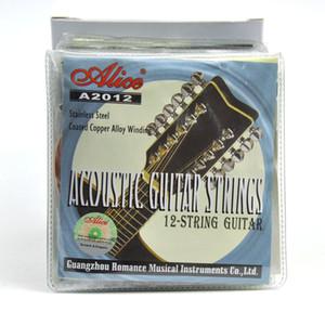10sets Alice Akustik Halk Gitar Strings Bakır Alaşım 12-String Sarma Kaplı