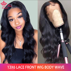 Brazilian Virgin Hair Body Wave Wig 13x6 Lace Front Wig With Baby Hair Pre Plucked Body Wave Lace Front Human Hair Wigs