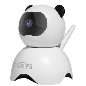 Alarme VESKYS C130-Panda 960P inteligente WiFi câmera CMOS de detecção de movimento IP P2P Night Vision Panda Security Camera-White