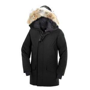 2020 Nuovo Inverno Uomini Giù Giacche Parka Homme Giacche canadese Cappotti pelliccia di procione con cappuccio Manteau Canada giù ricoprono Hiver Doudoune