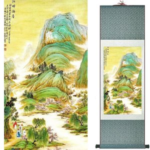 Ltraditional China Art Painting Seda Scroll Painting Chinese Wash Pintura 190822030