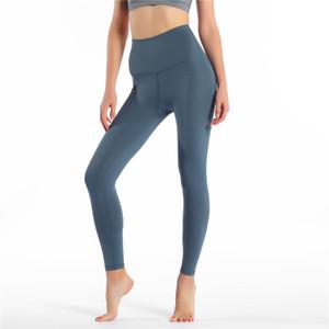 Yüksek Bel Katı Renk Kadınlar yoga pantolonları Spor Salonu Giyim Tozluklar Elastik Spor Lady Genel Tam Tayt Egzersiz